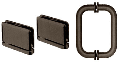 Oil Rubbed Bronze Prima Shower Pull and Hinge Set - CRL PPHS3ORB