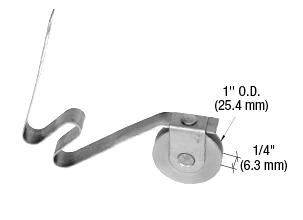 """CRL 1"""" Steel Sliding Screen Door Bottom Roller for PS134 Doors CRL PS134RR"""