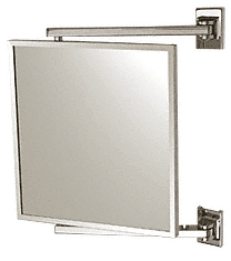 "CRL Polished Chrome 11"" x 11"" Pivot-N-Vue Double Hinged Mirror CRL PV11CH"
