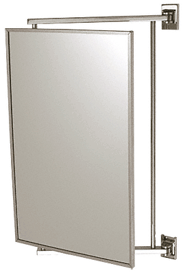 "CRL Polished Chrome 14"" x 22"" Pivot-N-Vue Double Hinged Mirror CRL PV14CH"
