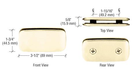 CRL Brass Roman Style 180 Degree Double Stud Glass Clamp CRL R0M184BR