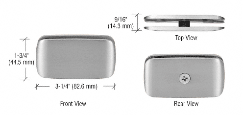 CRL Brushed Nickel Roman Style 180 Degree Glass Clamp CRL R0M680BN