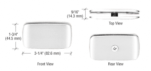 CRL Chrome Roman Style 180 Degree Glass Clamp CRL R0M680CH