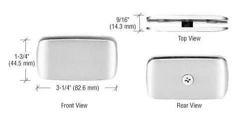 CRL Satin Chrome Roman Style 180 Degree Glass Clamp CRL R0M680SC