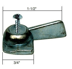 Right Hand Chrome Sliding Window Latch Single Screw Hole - CRL R7078