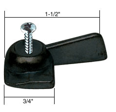 Right Hand Black Sliding Window Latch Single Screw Hole - CRL R7151
