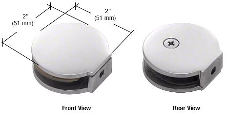 CRL Polished Chrome Round Fixed Panel U-Clamp CRL RC79CH