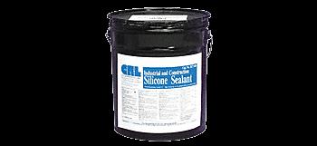 CRL Black RTV Industrial and Construction Silicone - 4.5 Gallon Pail CRL RTV408BL5GL