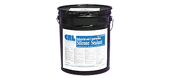 CRL Tan RTV Industrial and Construction Silicone - 4.5 Gallon Pail CRL RTV408T5GL