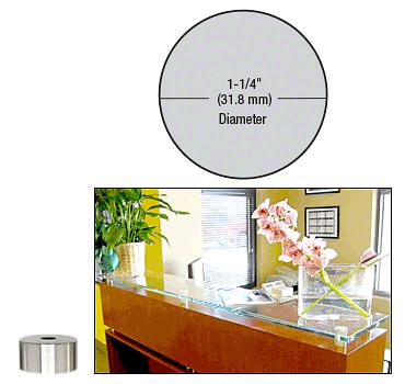 "CRL Chrome 1-1/4"" Diameter by 1/2"" Standoff Base CRL S0B11412CH"