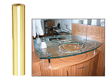 """CRL Brass 3/4"""" Diameter by 4"""" Long Standoff Base CRL S0B344BR"""
