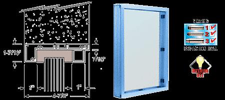 CRL Powder Painted (Specify) Aluminum Standard Inset Frame Interior Glazed Vision Window CRL S1V1P