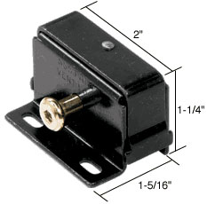 Black Finish Push-Bolt Step-On Lock - CRL S4025
