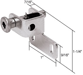 Aluminum Finish Sliding Window Push-Bolt Lock - CRL S4026