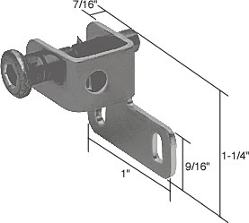Black Sliding Window Push-Bolt Lock - CRL S4027
