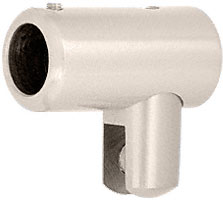 """Satin Nickel Support Bar U-Bracket for 1/4"""" and 5/16"""" Glass - CRL S4SN"""