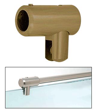 "CRL Antique Brass Support Bar U-Bracket for 3/8"" and 1/2"" Glass CRL S5ABR"