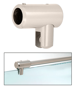"CRL Satin Nickel Support Bar U-Bracket for 3/8"" and 1/2"" Glass CRL S5SN"