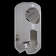 "CRL Brushed Nickel Movable Bracket for 1/4"" Glass CRL S6BN"