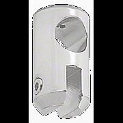 """CRL Satin Chrome Movable Bracket for 1/4"""" Glass CRL S6SC"""