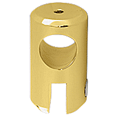 "CRL Polished Brass Movable Bracket for 3/8"" Glass CRL S7BR"
