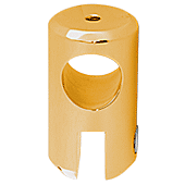 "CRL Gold Plated Movable Bracket for 3/8"" Glass CRL S7GP"