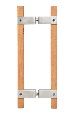 """CRL Brushed Stainless 10"""" BM Series Sauna Back-to-Back Pull Handle CRL SA6X6BS"""