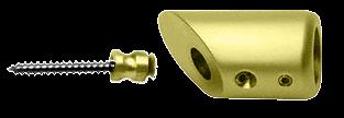 CRL Polished Brass Mitered Support Bar Bracket CRL SBB45BR