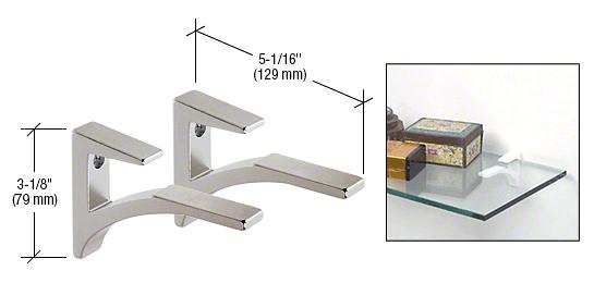 "CRL Chrome - Aluminum Shelf Clip for 3/8"" to 1/2"" Glass CRL SC5CH"