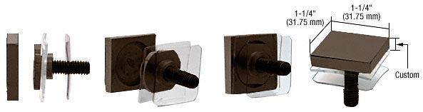 "CRL Custom Oil Rubbed Bronze 1-1/4"" Square Standoff Cap CRL SCAP125C0RB"