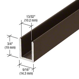 "CRL Oil Rubbed Bronze  3/8"" Fixed Panel Shower Door Deep U-Channel - 95"" CRL SDCD380RB"
