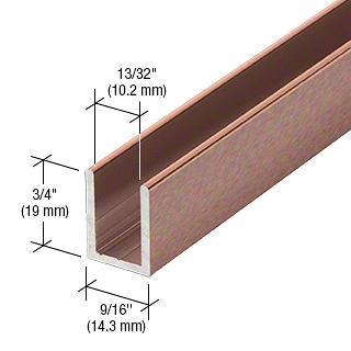 "CRL Antique Brushed Copper 3/8"" Fixed Panel Shower Door Deep U-Channel - 95"" CRL SDCD38ABC0"