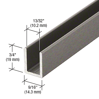 "CRL Antique Brushed Nickel 3/8"" Fixed Panel Shower Door Deep U-Channel - 95"" CRL SDCD38ABN"