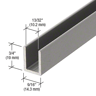"""CRL Brushed Anodized 3/8"""" Fixed Panel Shower Door Deep U-Channel - 95"""" CRL SDCD38AB"""