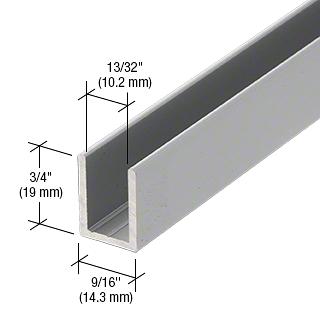 """CRL Satin Anodized 3/8"""" Fixed Panel Shower Door Deep U-Channel - 95"""" CRL SDCD38A"""