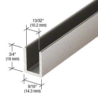 """CRL Brushed Nickel 3/8"""" Fixed Panel Shower Door Deep U-Channel - 95"""" CRL SDCD38BN"""