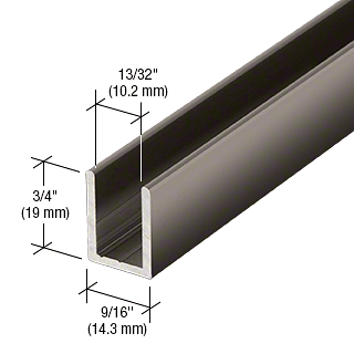 "CRL Gun Metal 3/8"" Fixed Panel Shower Door Deep U-Channel - 95"" CRL SDCD38GM"