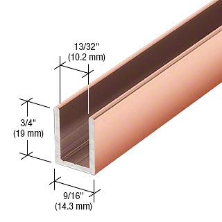 "CRL Polished Copper 3/8"" Fixed Panel Shower Door Deep U-Channel - 95"" CRL SDCD38PC0"