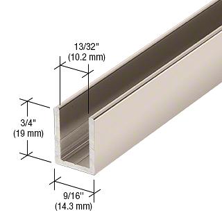 "CRL Polished Nickel 3/8"" Fixed Panel Shower Door Deep U-Channel - 95"" CRL SDCD38PN"