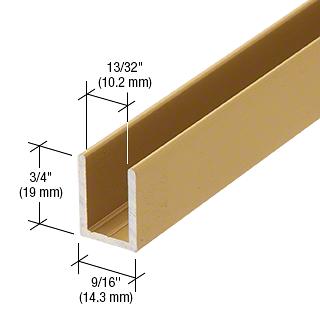"""CRL Satin Brass 3/8"""" Fixed Panel Shower Door Deep U-Channel - 95"""" CRL SDCD38SB"""