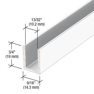 "CRL White 3/8"" Fixed Panel Shower Door Deep U-Channel - 95"" CRL SDCD38W"