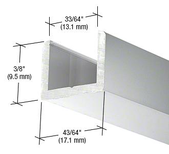 "CRL Brite Anodized Frameless Shower Door Aluminum Regular U-Channel for 1/2"" Thick Glass CRL SDCR12BA"