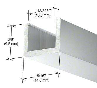 "CRL Brite Anodized Frameless Shower Door Aluminum Regular U-Channel for 3/8"" Thick Glass CRL SDCR38BA"