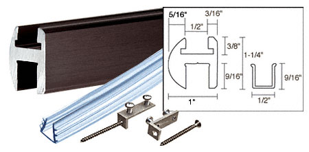 Oil Rubbed Bronze 66 inch Deluxe Shower Door Header Kit - CRL SDH660ORB