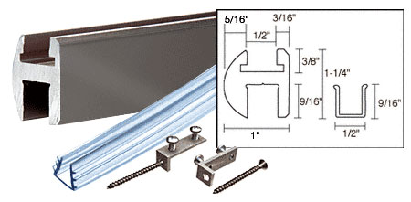 Gun Metal 66 inch Deluxe Shower Door Header Kit - CRL SDH660GM