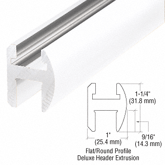 """CRL White 66"""" Deluxe Shower Door Header Kit CRL SDH660W"""