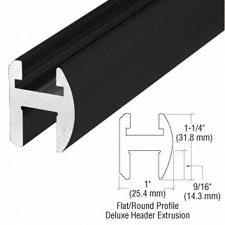 """CRL Matte Black Deluxe Shower Door Header Kit - 95"""" CRL SDH980MBL"""