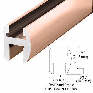 "CRL Polished Copper Deluxe Shower Door Header Kit - 95"" CRL SDH980PC0"