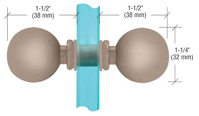 CRL Brushed Nickel Style Back-to-Back Knobs CRL SDK075BN