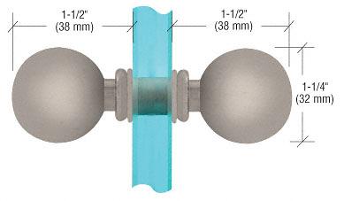 CRL Brushed Satin Chrome Ball Style Back-to-Back Knobs CRL SDK075BSC